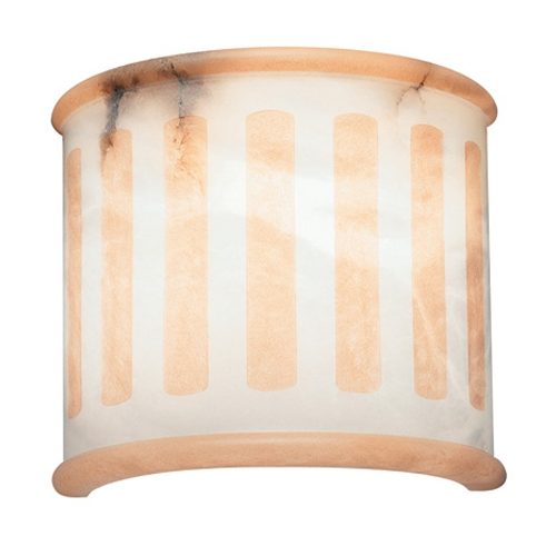 Wall Lamp white Alabaster white with talla beige