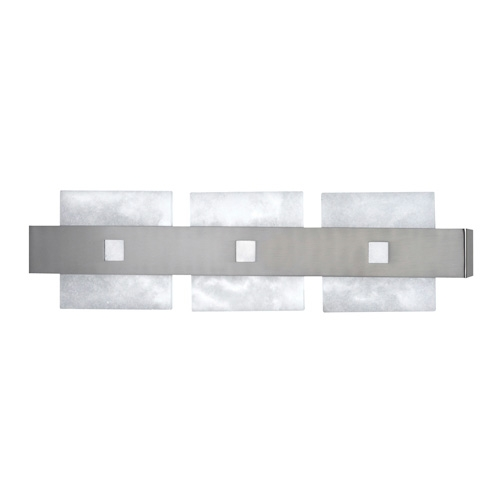Wall Lamp Evolution Sq Nickel Satin Alabaster white