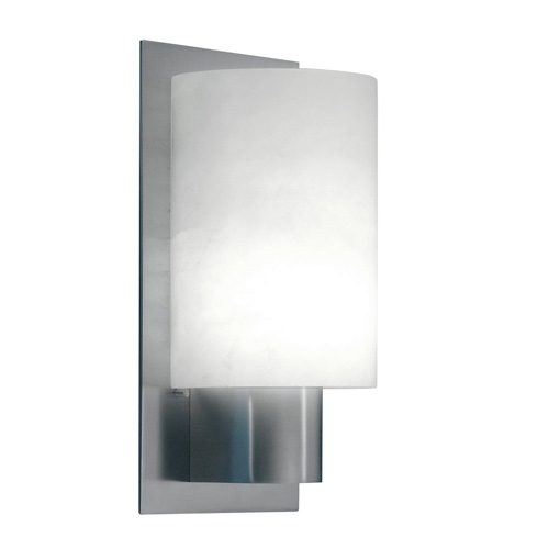 Wall Lamp Evolution Nickel Nickel Satin Alabaster white