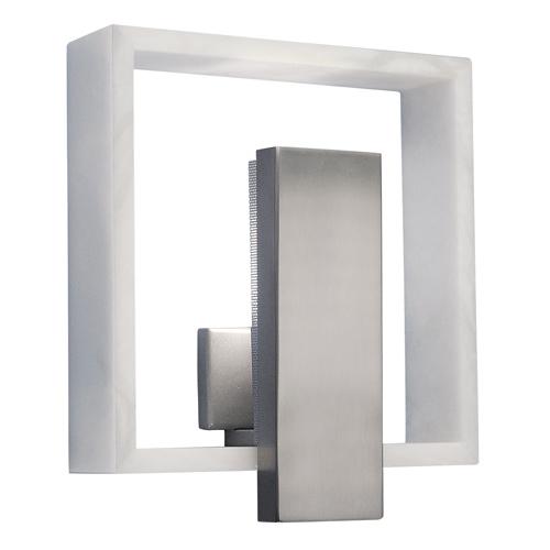 Wall Lamp Evolution Qi Nickel Satin Alabaster white
