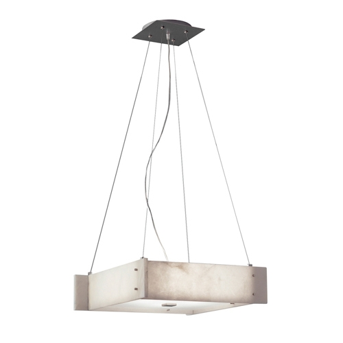 Pendant Lamp Evolution H Nickel Satin Alabaster white