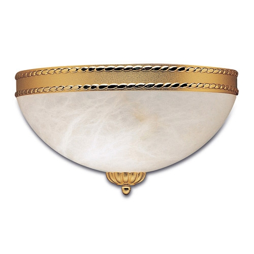Cobra Wall Lamp Gold Shiny and Satin Alabaster white