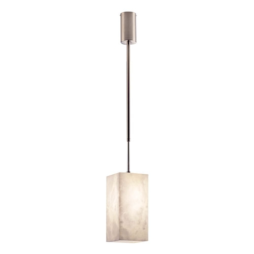 Pendant Lamp Evolution [] Nickel Satin Alabaster white