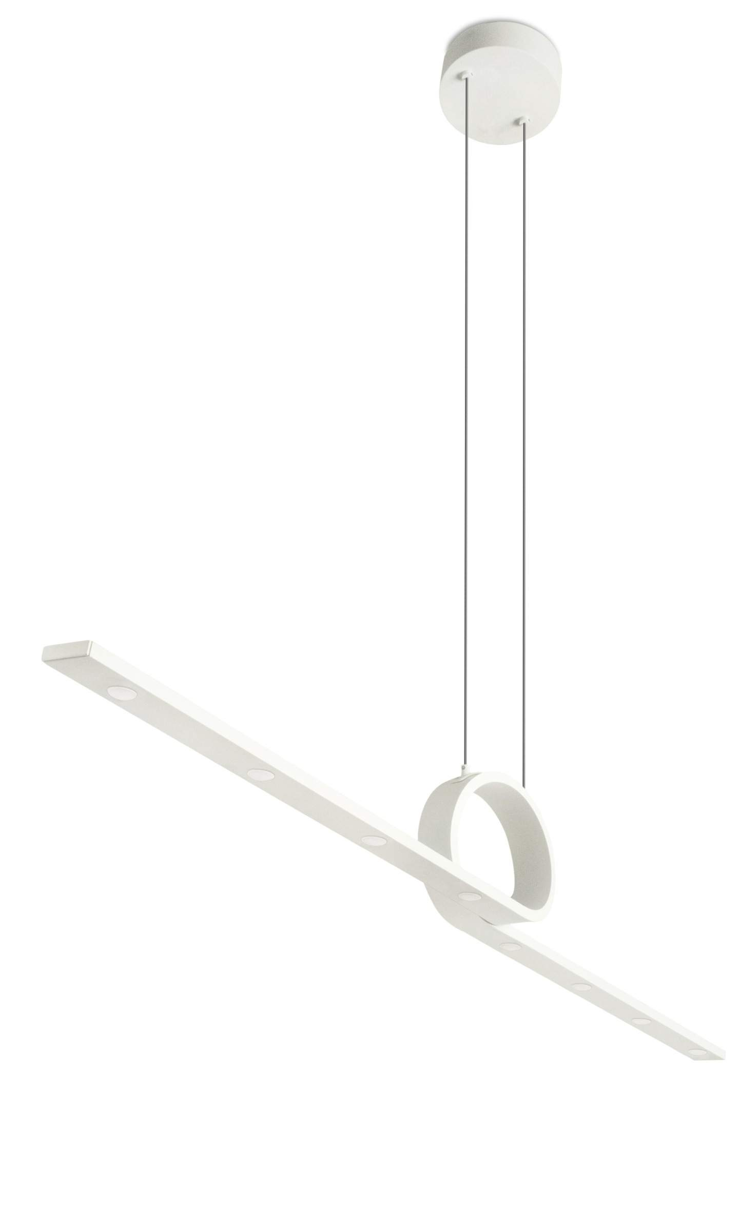 Curl Suspension linéaire LED 8x3W 3000K Blanc