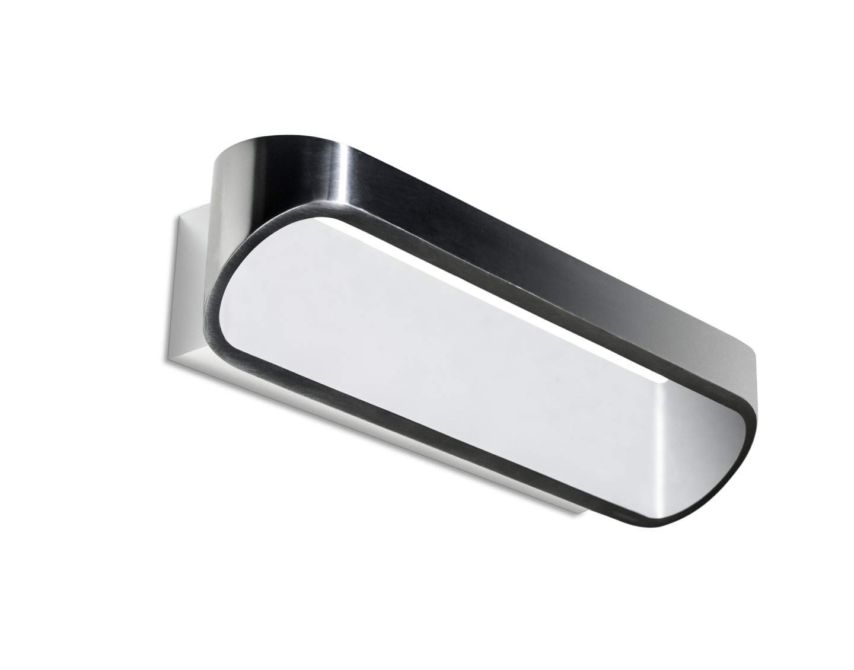 Oval Aplique 30cm LED 8W blanco Mate pulido