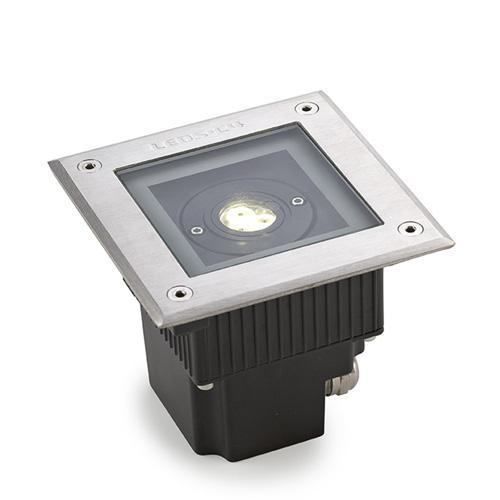 Gea Empotrable suelo 3 x LED Cree 6.5W <40C acero inoxidable