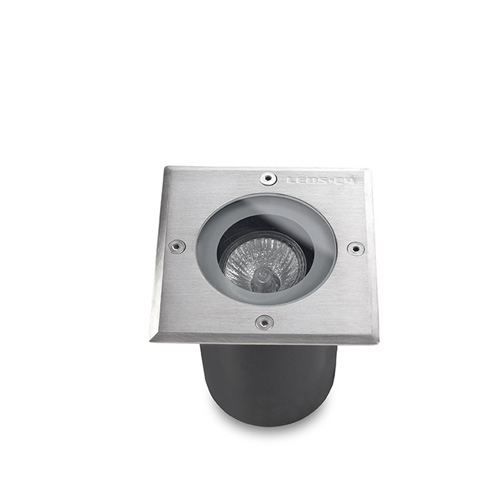 Gea Recessed suelo GU10 50W Stainless Steel