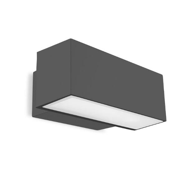 Afrodita Wall Lamp Outdoor 30x12x17cm 2xG24q-3 26w (FL) Grey Urbano