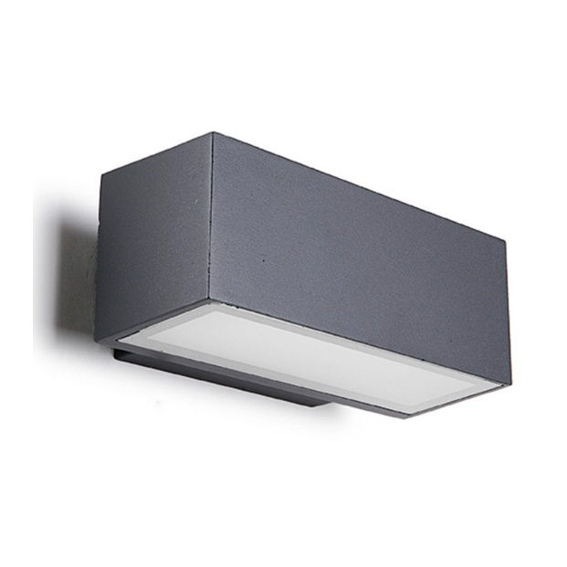 Afrodita Wall Lamp Outdoor 22x9x12cm R7s 150w Halogen Grey Urbano