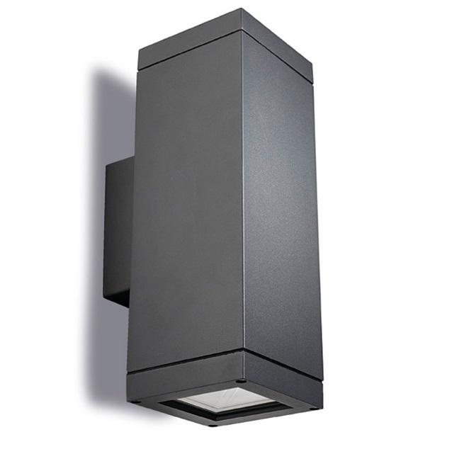 Afrodita Aplique Exterior 31x11x11cm 2xE27/PAR-30 MAX 75W gris Urbano