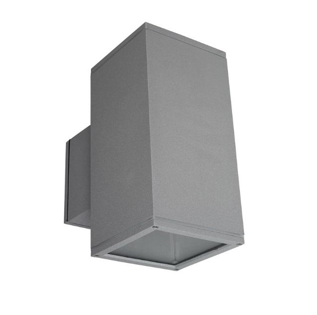 Afrodita luz de parede 15x15x30cm 70W G12 HID Cinza