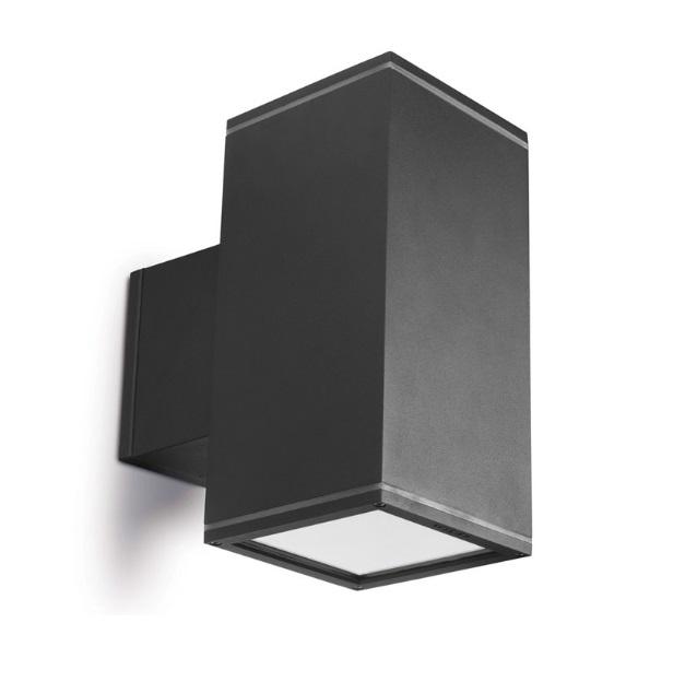 Afrodita Wall Lamp 15x15x30cm 70W G12 HID Grey Urbano