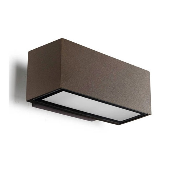 Afrodita Wall Lamp Outdoor 22x12x9cm G24d-3 26w (FL) Brown