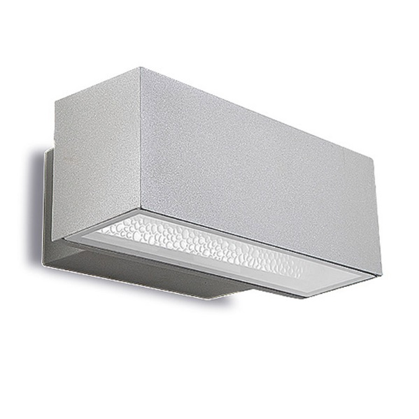 Afrodita luz de parede 30x12x17cm 70W Rx7s HID Cinza