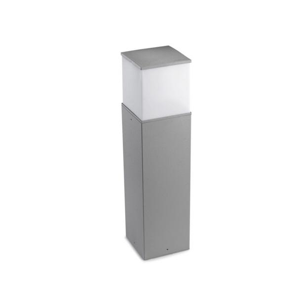 Cubik Baliza 15x15x60cm PL E27 60W gris