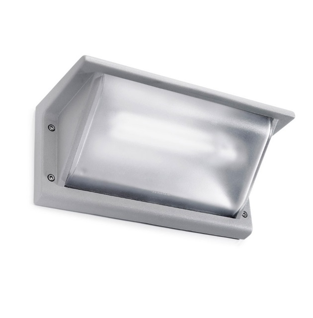 Curie Wall Lamp Outdoor 26cm G24d-3 26w Grey