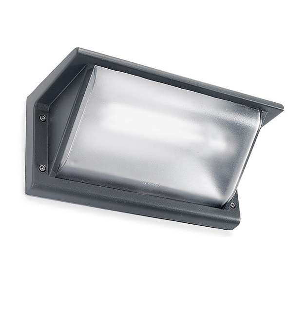 Curie Wall Lamp Outdoor 26cm G24d-3 26w Grey Urbano