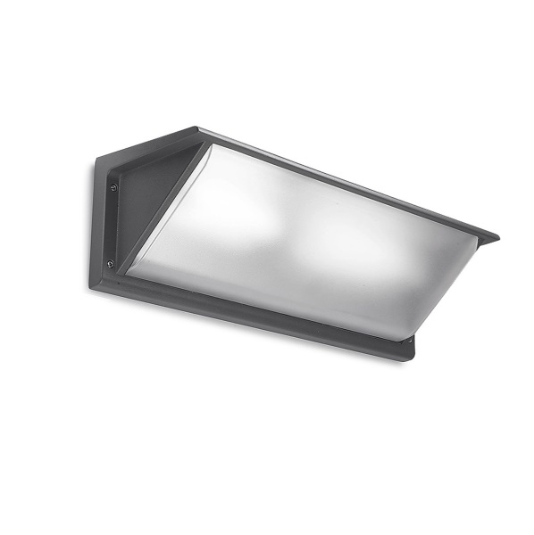 Curie Wall Lamp Outdoor 46cm G24d-3 2x26w Grey