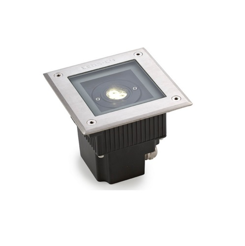 Gea Recessed suelo Square pulido 3xLED Philips 6W