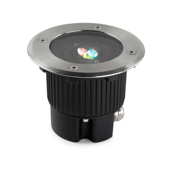 Gea Recessed suelo circular 3 LED Cree 7,5W RGBEASY+