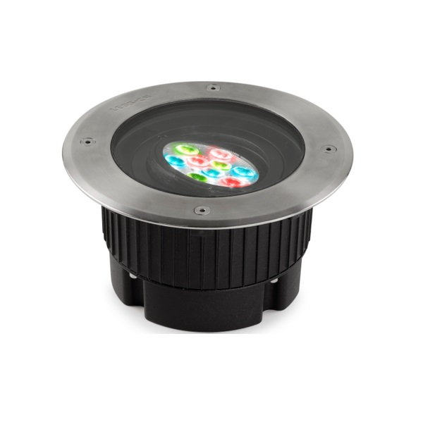 Gea Recessed suelo circular 9 LED Cree 14W RGBEASY+