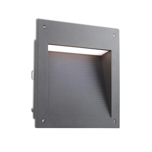Micenas Empotrable Pared Cuadrado IP65 LED 20w 4000K - gris Urbano