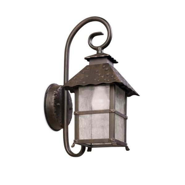 Persefone Wall Lamp 19x19x25x45cm 1xE27 Max100W Brown óxido