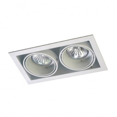 Multidir Downlight Double rectangulaire QR-CBC51 GU5.3 Blanc