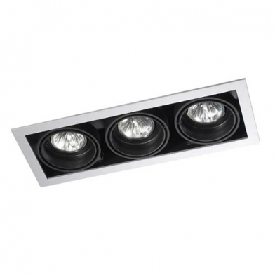 Multidir Downlight triplo retangular QR-CBC51 GU5.3 Branco