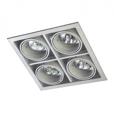 Multidir Downlight Cuádruple Cuadrado QR-CBC51 GU5.3 Gris