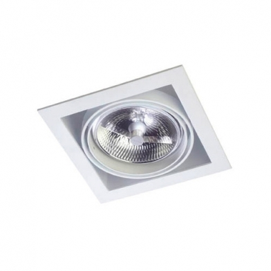 Multidir Downlight Individuel Carrée QR 111 G53 Blanc
