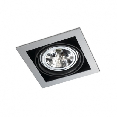 Multidir Downlight Individuel Carrée QR 111 G53 Gris