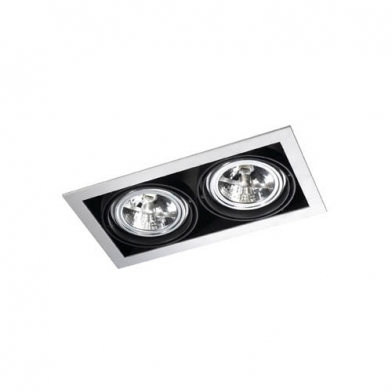 Multidir Downlight Double rectangulaire QR-111 G53 Blanc