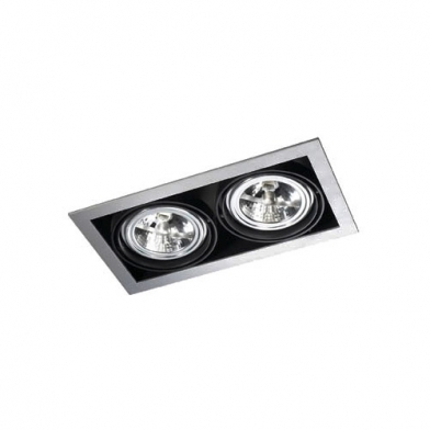 Multidir Downlight Doble rectangular QR-111 G53 Gris