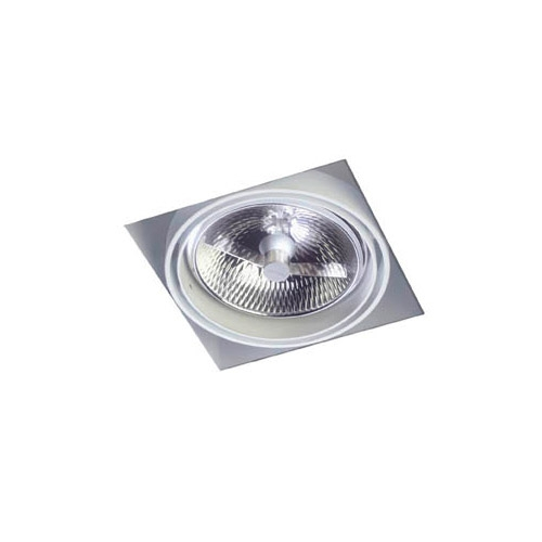 Multidir Trimless Downlight Single Square QR 111 G53 white
