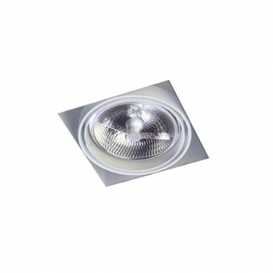 Multidir Trimless Downlight Single Square QR 111 G53 Black