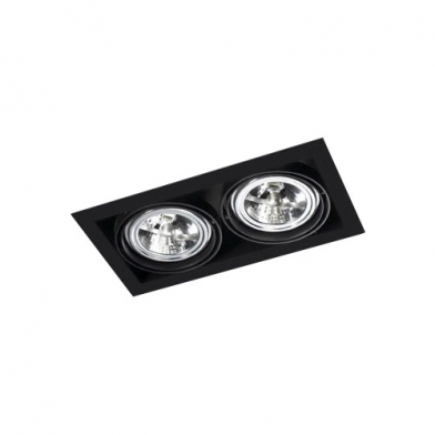 Multidir Trimless Downlight Duplo retangular QR-111 G53 branco