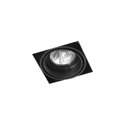 Multidir Trimless Downlight Single Square QR CBC51 GU5.3 Black