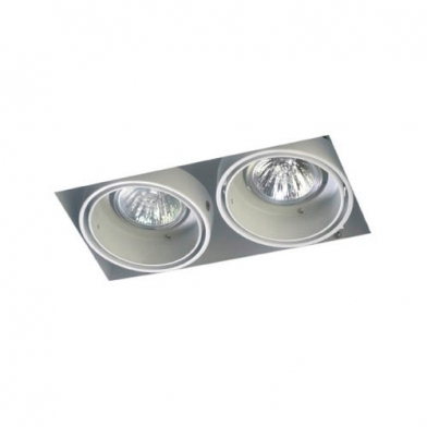 Multidir Trimless Downlight Duplo retangular QR-CBC51 GU5.3 branco