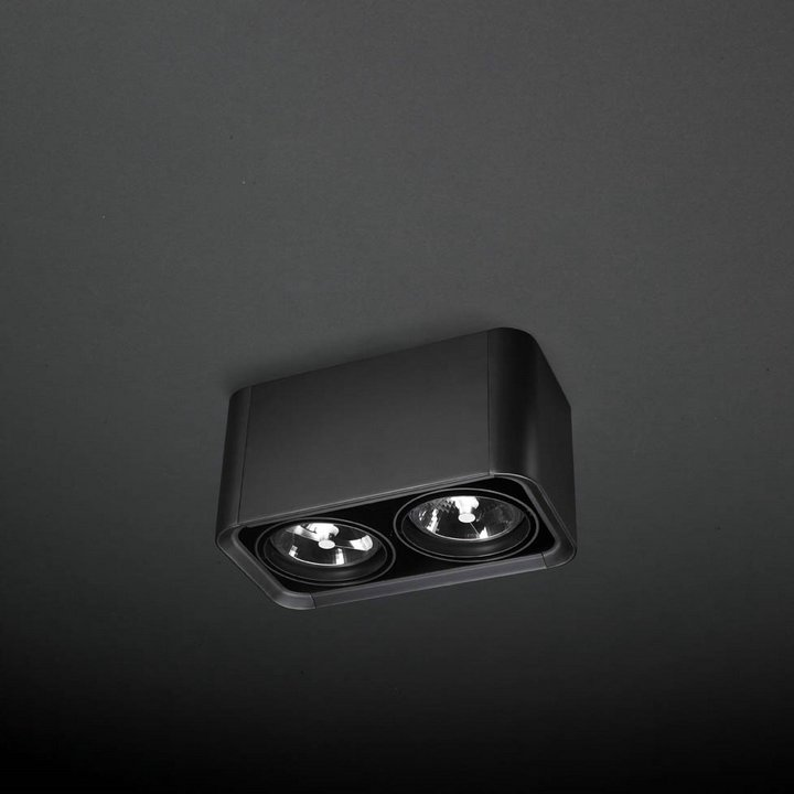 Baco luminary of Surface Doble QR 111 G53 2x75W Black