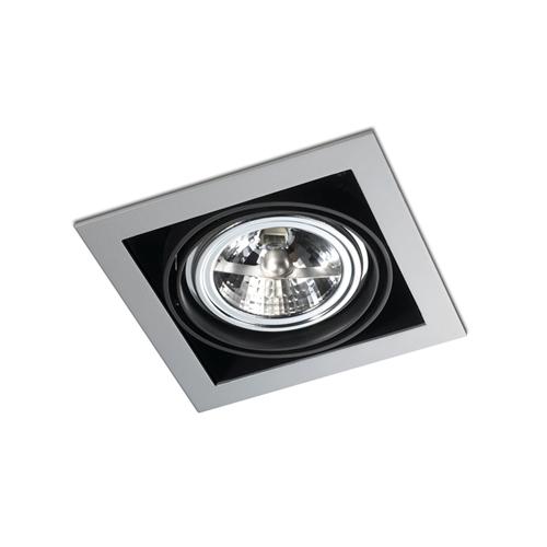 Multidir Downlight Single Square QR 111 GU10 Grey