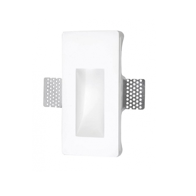 Secret Empotrable rectangular Pequeña yeso LED 1x1w 3000K blanco