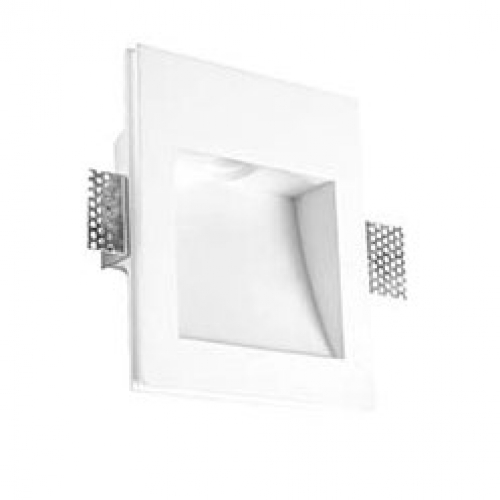 Secret Empotrable rectangular Grande yeso LED 1x1w 3000K blanco