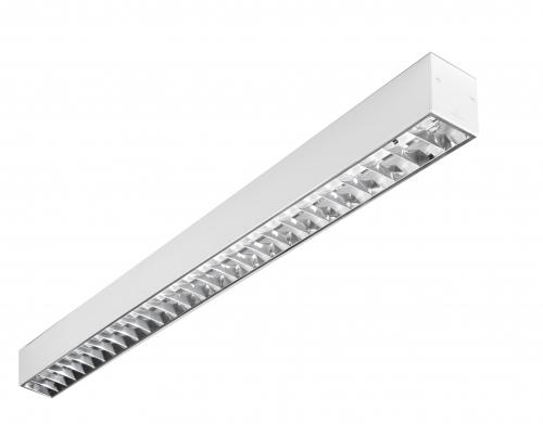 Infinite Luminaria Adosada 2xTL5 G5/54w Doble parabólica 120cm gris
