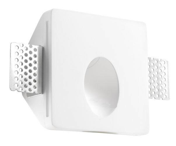 Secret Empotrable cuadrada yeso LED 1x1w 3000K blanco