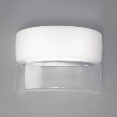 Bisquit P Wall Lamp 1x100W E27 white Shiny/Glass