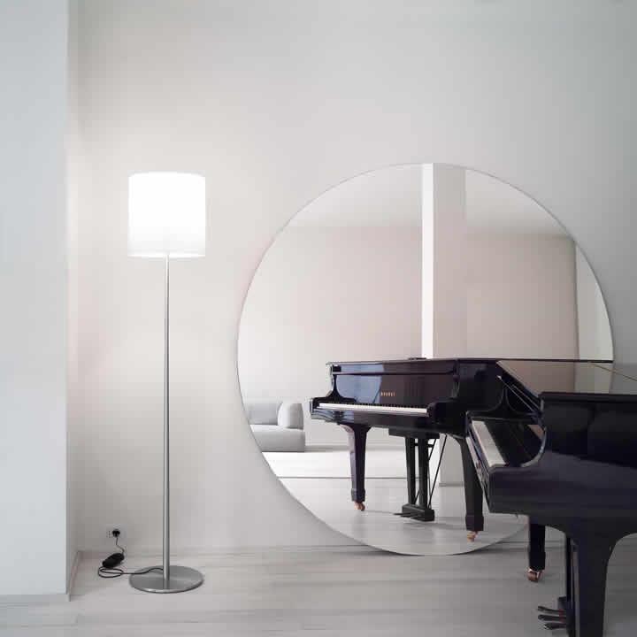 Celine TR lámpara of Floor Lamp lámpara of Floor Lamp 1x250W E27 ámbar Satin