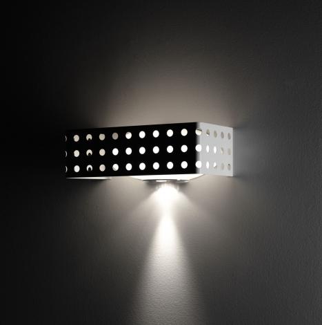 Endor P50 Wall Lamp Bco.sat E27 150W + GU10 35W metal white