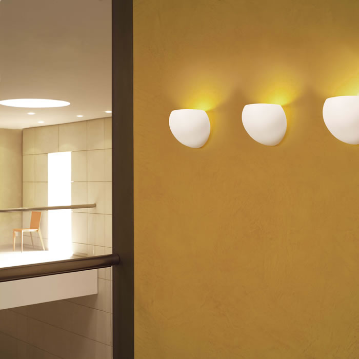 Golf P1 Wall Lamp 1x100W B15d ámbar Satin