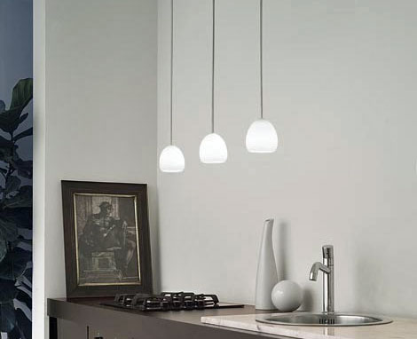 Golf S Pendant Lamp D3 Pendant Lamp triple 3x60W G9 white Satin